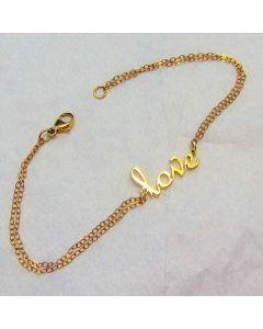 Love Scroll Bracelet