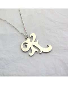 Swirl Letter Necklace