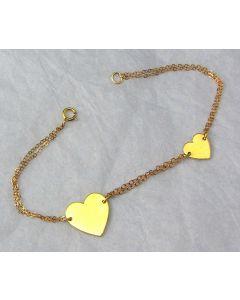 Two Heart Bracelet